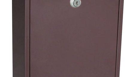 Richter Poštovní ocelová schránka Vigo, hnědá