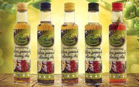 Španělské ochucené olivové oleje: chilli i pepř
