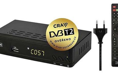 DVB-T2 přijímač EMOS EM170 HD černý