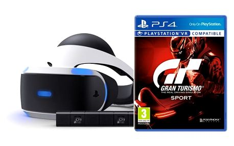 Brýle pro virtuální realitu Sony PlayStation VR + Kamera + Gran Turismo Sport (PS719950066)