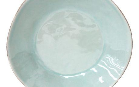 Tyrkysový kameninový polévkový talíř Costa Nova,Ø25 cm
