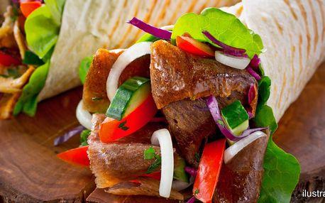 Kebab pro 2: grilované maso, sýr a nápoj