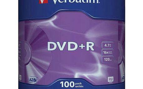 Disk Verbatim DVD+R 4,7GB, 16x, 100-cake (43551)