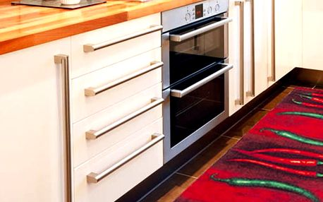 Vysoce odolný kuchyňský koberec Webtappeti Peperoncini,60x150cm