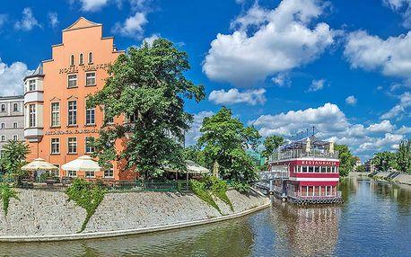 Romantika v polských Benátkách: krásná Wroclaw v hotelu na ostrově v centru města s polopenzí