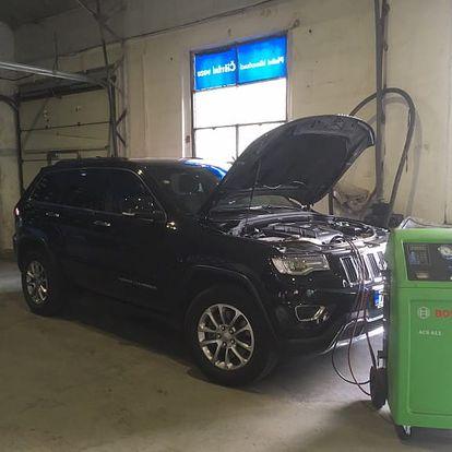 Kontrola, čištění a plnění autoklimatizace vozu na Praze 9