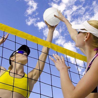 Hodinka plážového volejbalu pro 4-6 kamarádů
