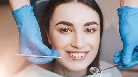 30minutová dentální hygiena a bělení zubů v ordinaci Fastum Dent v Praze