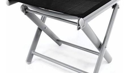 Garthen 35549 Hliníková zahradní stolička - skládací černá