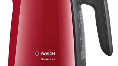Rychlovarná konvice Bosch ComfortLine TWK6A014 černá/červená