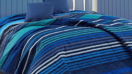 BedTex Přehoz na postel Marley modrá, 220 x 240 cm, 2x 40 x 40 cm