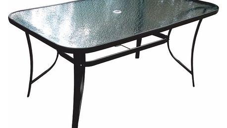 Zahradní stůl PASTER černá ocel / tvrzené sklo Tempo Kondela