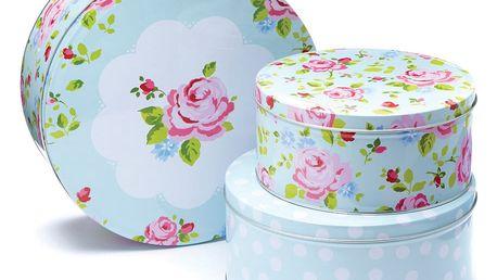 Sada 3 úložných boxů na dezerty Cooksmart England Florals