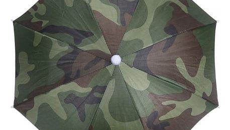 Maskáčový deštník na hlavu