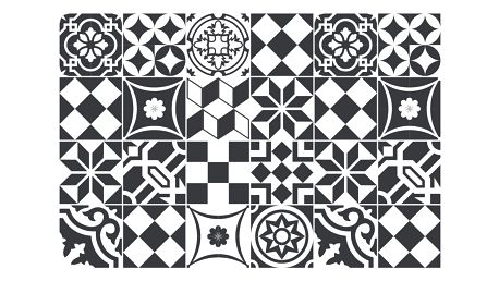 Sada 24 samolepek Ambiance Mosaic Black and White