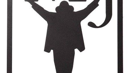 Černá nástěnná kovová dekorace Wall Decor Michael Jackson