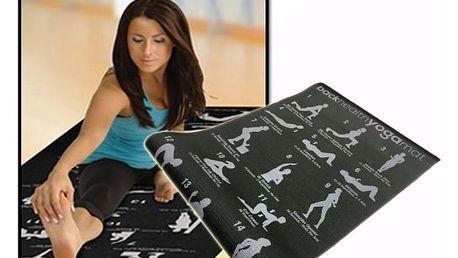 Podložka na jógu s ukázkami cviků