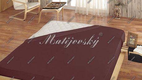 Matějovský prostěradlo Jersey hnědá, 200 x 220 cm