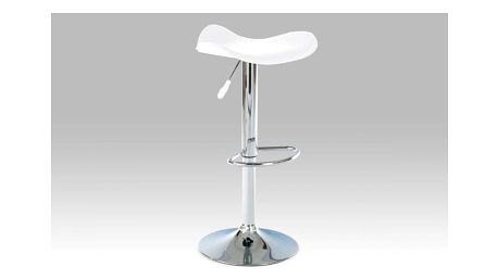 Barová židle, chrom / koženka bílá AUB-300 WT Autronic