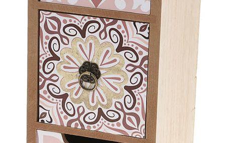 Dřevěná skříňka se zásuvkami na drobnosti KYRA DESIGN , 3 přihrádky Home Styling Collection