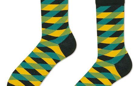Ponožky Many Mornings Illusion Green,vel.39–42