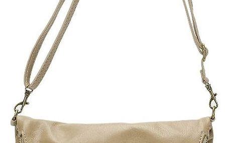 Béžová kožená kabelka Lisa Minardi Renae