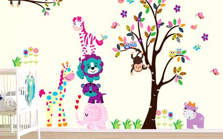 Samolepka na stěnu Šťastná rodinka