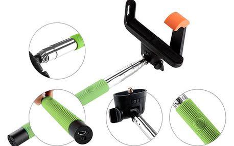 Selfie tyč GoGEN 2 teleskopická, bluetooth zelená (GOGBTSELFIE2G)