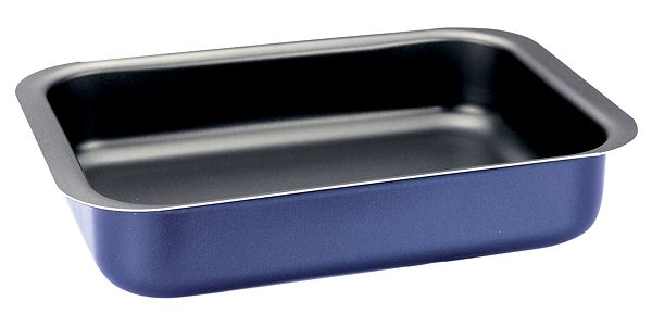 Modrá obdélníková pečicí forma Pensofal Inoxal, 25 x 18 cm