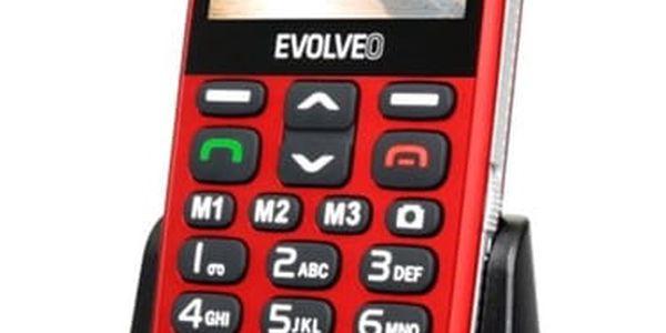 Mobilní telefon Evolveo EVOLVEO EasyPhone XD pro seniory (EP-600-XDR) červený Software F-Secure SAFE, 3 zařízení / 6 měsíců v hodnotě 979 Kč