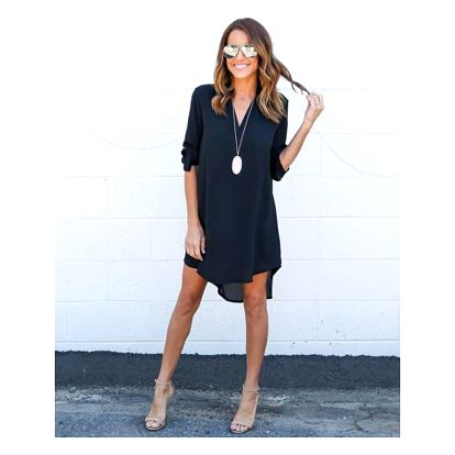 Mini šaty s asymetrickým střihem - 5 barev