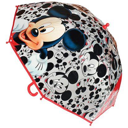 Dětský transparentní deštník Mickey Mouse