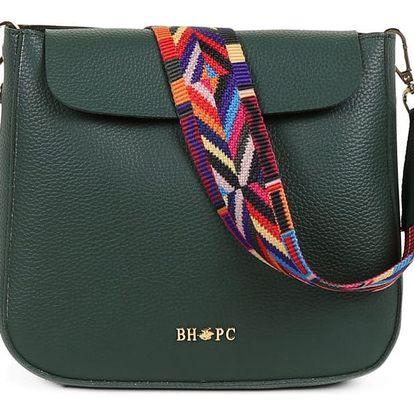 Zelená kabelka z eko kůže Beverly Hills Polo Club Georgina