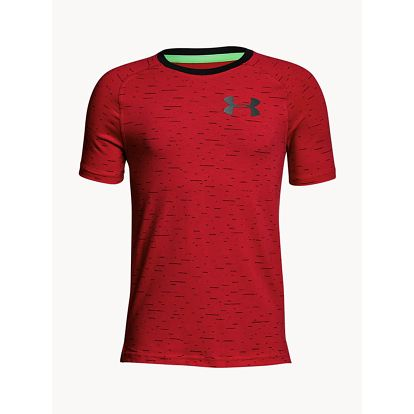 Tričko Under Armour Cotton Knit SS Červená