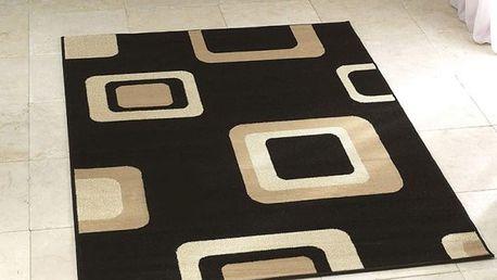 Černý koberec Think Rugs Diamond,120x170cm