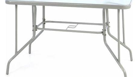 Garthen BISTRO 39230 Zahradní obdélníkový stůl se skleněnou deskou - šedá