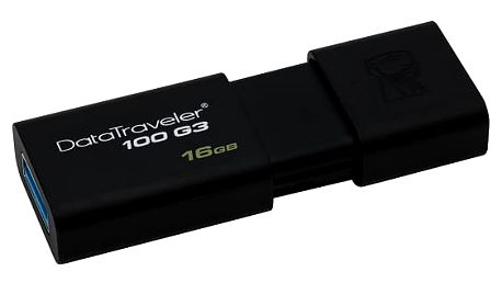 USB Flash Kingston DataTraveler 100 G3 16GB černý (DT100G3/16GB)