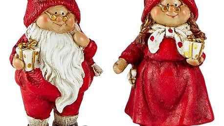 Sada 2 dekorativních vánočních figurek KJ Collection Pixie