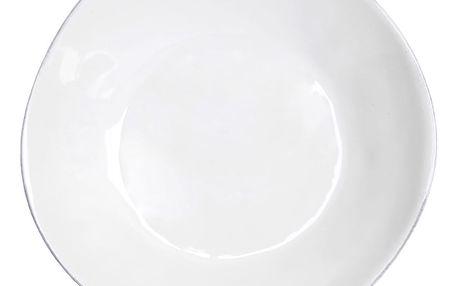 Bílý kameninový polévkový talíř Costa Nova,Ø25 cm