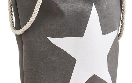 Koš na prádlo STAR - 61 l, barva šedá, ZELLER