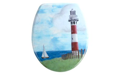 WC sedátko Wenko Lighthouse, 44,5 x 37,5 cm