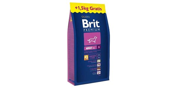 Brit Premium Dog Adult S 8 kg + 1,5 kg ZDARMA