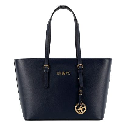 Tmavě modrá kabelka z eko kůže Beverly Hills Polo Club Anne