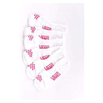 Ponožky Vans Wm Basic Canoodle (White/Wild Orch) 3 Pack Bílá