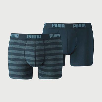 Boxerky Puma Stripe 1515 Boxer 2 Pack Denim Modrá
