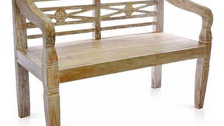 Divero 35468 Zahradní lavice 2-místná z masivního týkového dřeva 115 cm
