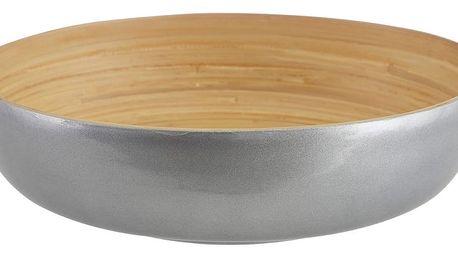 Servírovací mísa z bambusu ve stříbrné barvě Premier Housewares, ⌀ 30 cm