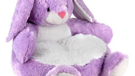 Plyšová hračka - plyšové sedátko s opěradlem pro děti Emako