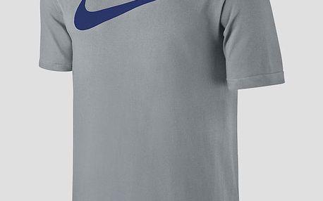 Tričko Nike TEE-CHEST SWOOSH Šedá