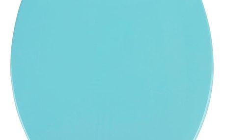 Modré WC sedátko se snadným zavíráním Wenko Kos, 44 x 37,5 cm